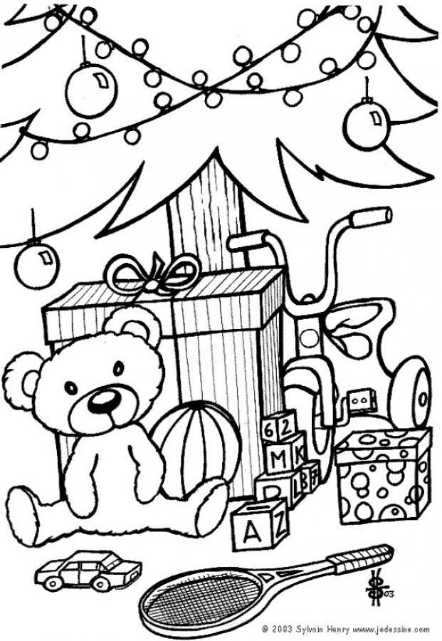 Dibujos para colorear de Árboles de Navidad