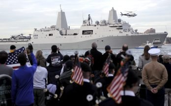 El buque USS New York es un homenaje a las Torres Gemelas