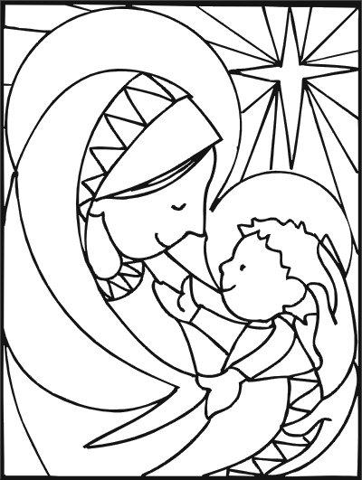 Dibujos para colorear del Nacimiento