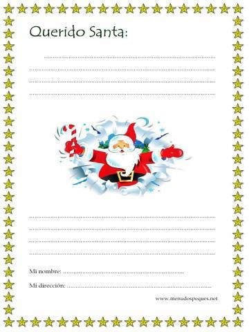 Los mejores modelos de Carta para Santa Claus
