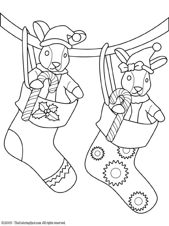 Dibujos para colorear de botas de Navidad