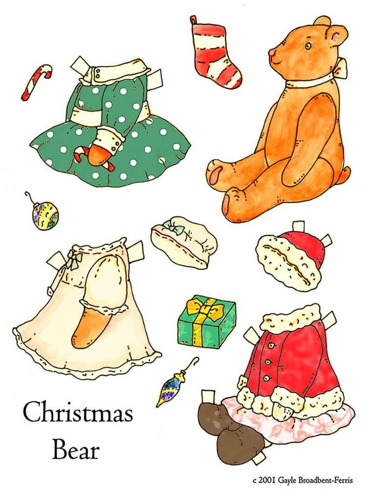 Oso navideño para vestir