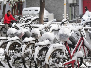 Pekín registró la nevada más fuerte en 60 años