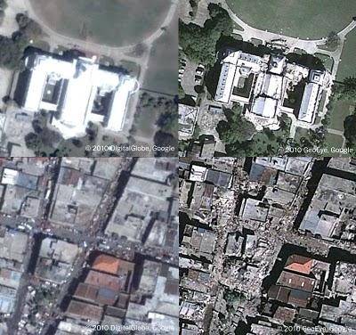 Haití visto desde Google Earth