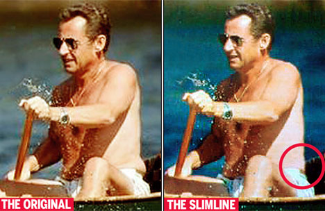 A Sarkozy también le aplican Photoshop