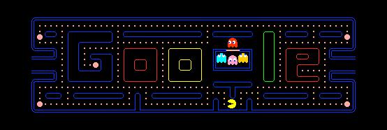 Google en el cumpleaños 30 de PacMan