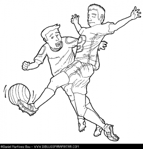 Dibujos para colorear del Mundial de Fútbol