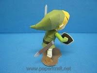 Link de Zelda en papel craft