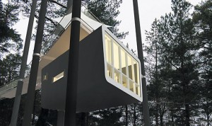 Hotel con habitaciones en los árboles
