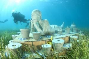 Museo submarino para salvar a los arrecifes de coral en el sureste mexicano