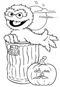 Dibujos para colorear de personajes de caricaturas para Halloween