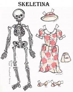 Muñecos de papel de Halloween para vestir