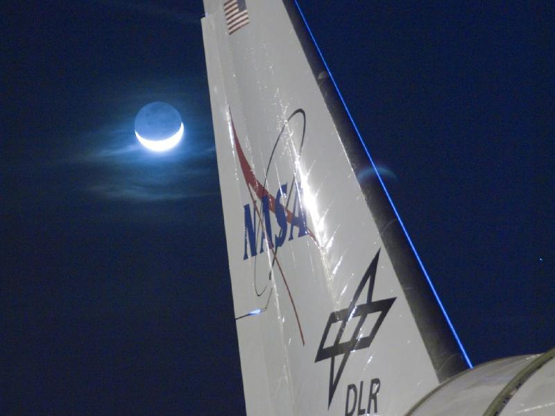 Imágenes de postal de la NASA-La Luna desde el SOFIA