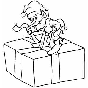NAVIDAD dibujos para colorear de elfos