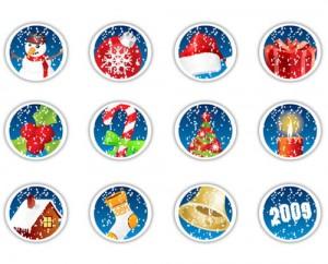 Set de iconos de Navidad
