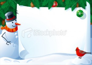 Cartas para Navidad para imprimir