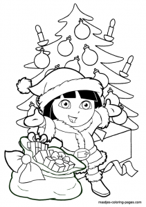 Dibujos para colorear de caricaturas para Navidad