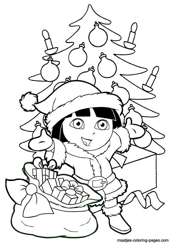 Dibujos para colorear de caricaturas para Navidad - Agridulce