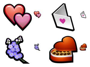 Curiosos iconos de corazones para San Valentín