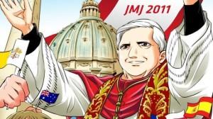 La vida del Papa Benedicto XVI en dibujos Manga