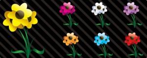Imágenes de flores en Vectores