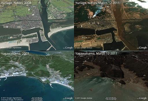 Japón imágenes y videos impactantes de antes y después del terremoto