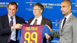 El F.C. Barcelona y Bill Gates contra la Poliomielitis