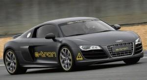 El super deportivo R8 e-tron de Audi con sonido amplificado como medida de seguridad
