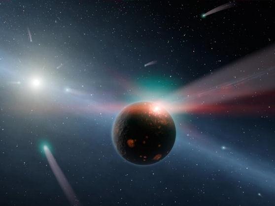 Bellísima imagen de una Tormenta de Cometas