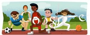 Doodle interactivo de Londres 2012 / Atletismo