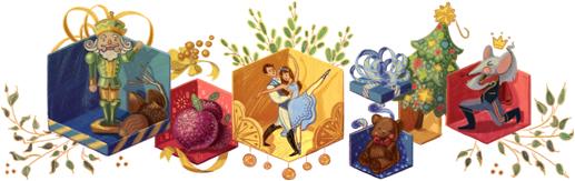 Google recordando el 120 Aniversario de el balllet de El Cascanueces