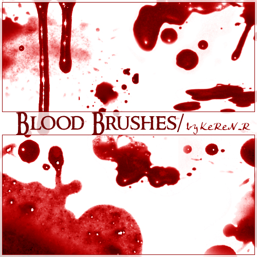 blood-brushes-gotas de sangre-brochas