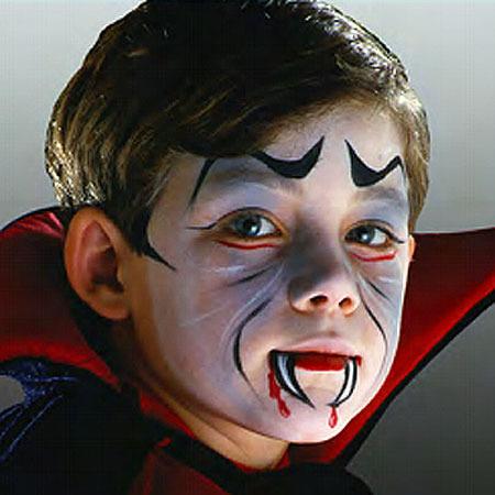 maquillaje para halloween-niños-vampiro