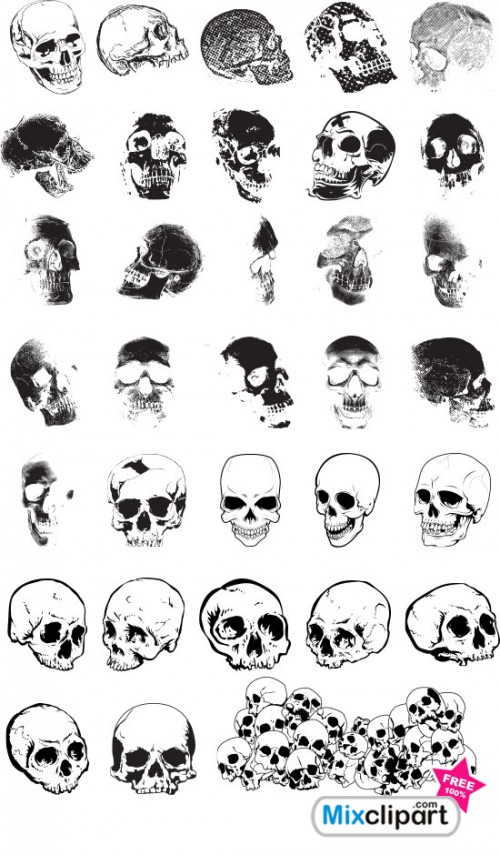calaveras-craneos-Skulls-Free-Photoshop-Brushes-