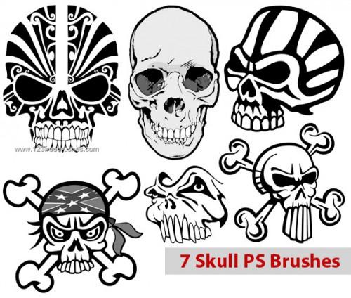calaveras-craneos-skull-photoshop-brush-pack-freebrushes