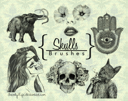 calaveras-deviantart-brushes_skull_by_trendylife-d61v838