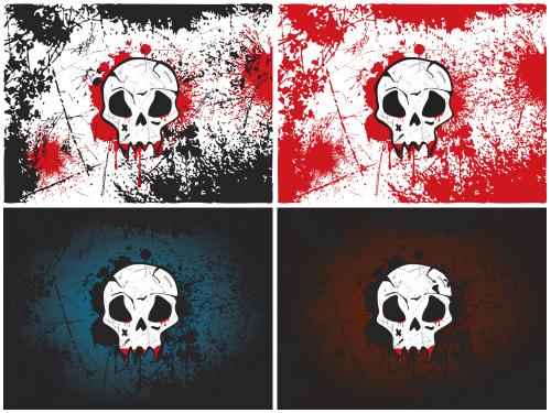 wallpapers-en vectores-calaveras-dragonartz